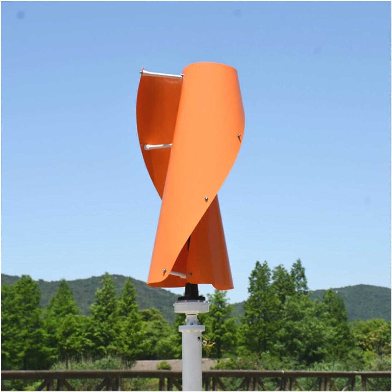 Aerogeneradores 400W / 600W VAWT Generador de turbina de viento vertical 12V / 24V Spiral opcional 3 colores generador con controlador de carga MPPT para el hogar Energía solar y eólica
