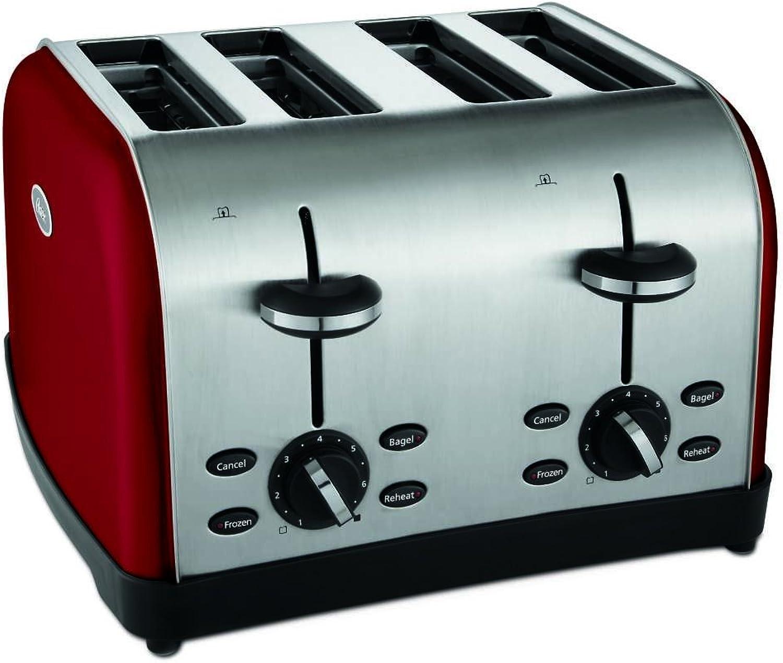 Oster 4-Slice Toaster, Metallic Red (TSSTTRWF4R-SHP)