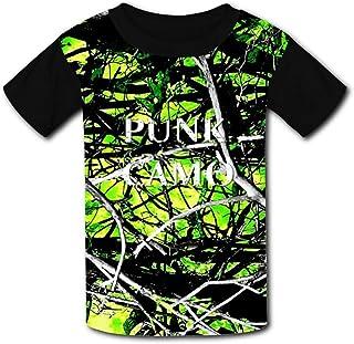 cb6d656a61a3c PPWWVV88 Children O-Neck Green Muddy Girl Camo 3D Printing Short Sleeve T- Shirt