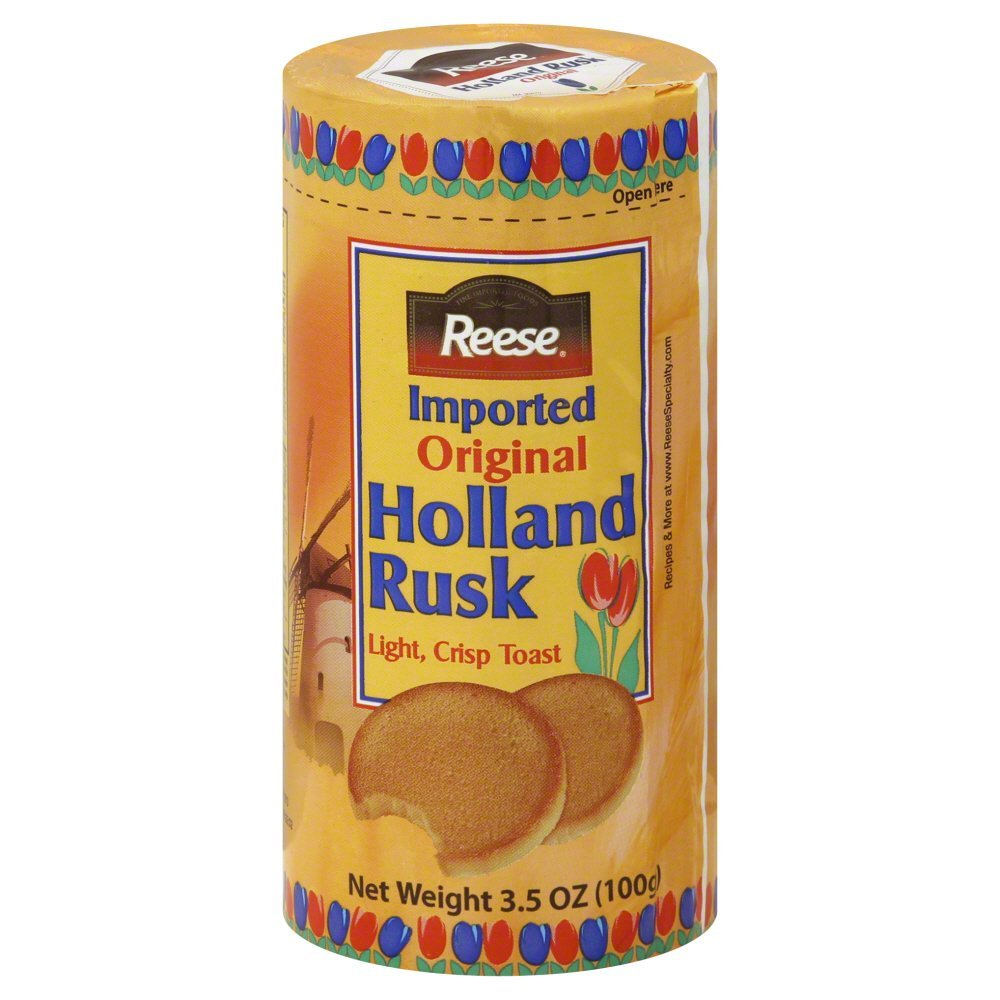 Reese Holland Rusk Light Large discharge sale Crisp Max 87% OFF Toast o 3.5-Ounce Package Pack