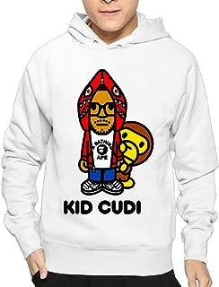Boy Rapper Singer Kid Cudi Bape Logo Pullover Hooded Sweatshirt