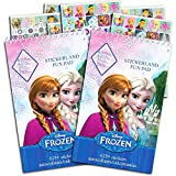 Pegatinas de Frozen de Disney, paquete de recuerdos de fiesta (24 hojas de pegatinas de Frozen ~ 408 pegatinas)