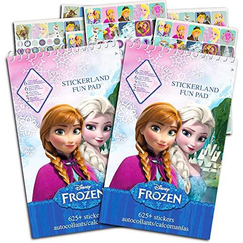 Disney Frozen Stickers Party Favor Pack (2 Frozen Sticker Books ~ Over 1,200 Stickers)