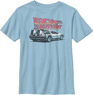 Back to The Future Boys' Delorean Cartoon T-Shirt