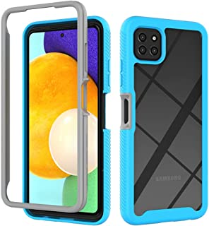 MOONCASE Case for Samsung Galaxy A22 5G, Ultra-Thin Soft TPU Bumper Shockproof Case Transparent PC Design Back Cover for S...