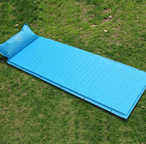 LIULIHUA Outdoor Single with Pillow Peut être Cousu Pad Imperméable à l'eau Camping Sleeping Pad Pad Automatique Gonflable,A2