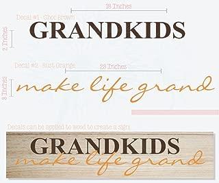 grandkids make life grand vinyl