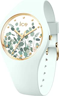 Ice-Watch - Ice Flower Mint Garden - Montre Verte pour Femme avec Bracelet en Silicone - 017581 (Medium)