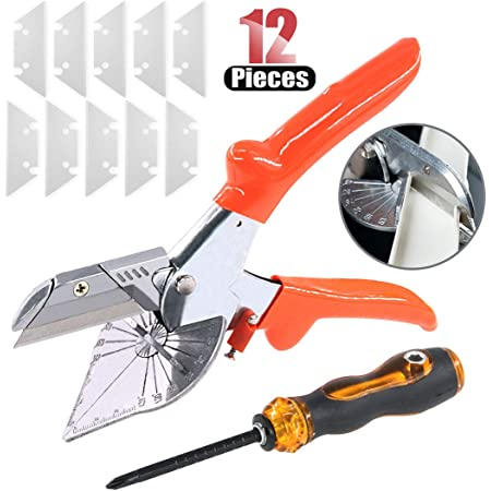 45°-135° Adjustable Multi-Angle Miter Shear Cutter Scissors Screwdriver Tool US*