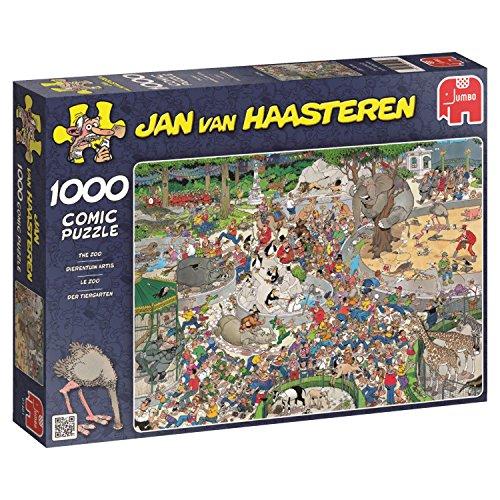 Jumbo Puzzles 335015 JUMBO Puzzle 01491 Der Tiergarten, Jan van Haasteren, 1000 Teile