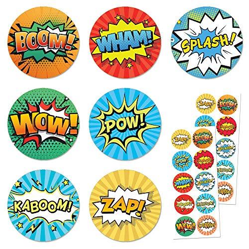 TownStix Superheld Comic Aufkleber Stickers - 20 Blätter, 200 Stück