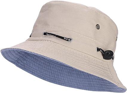 Chapeau Seau Pêche Casquette Bob Extérieur Poche Hawkins Été Soleil