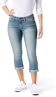 Signature by Levi Strauss & Co. Gold Label Women's Mid-Rise Slim Fit Capris