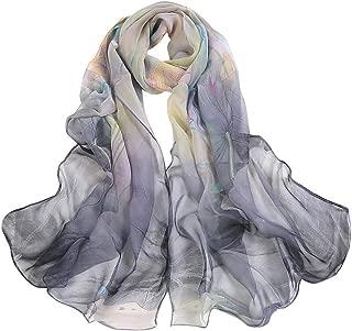 CHIDY Scarves Fashion Women Lotus Printing Long Soft Wrap Scarf Ladies Shawl Scarves