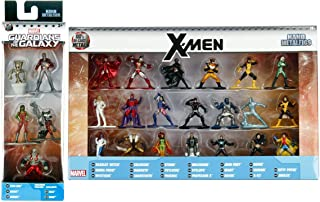 X-Marvel Figure 25 Collection X-men mini metal character set Wolverine / Storm / Cyclops / Phoenix / Colossus / Ice Man / Magneto / Rogue / Beast Super Hero + Guardians Groot / Rocket Raccoon Galaxy 5