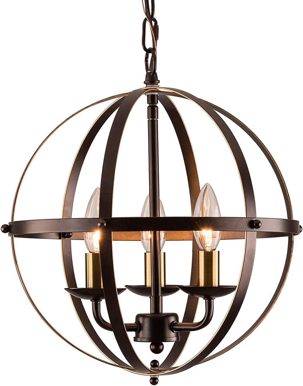MOOK Industrial Globe Chandeliers Bronze Light Metal Max 51% OFF Ranking TOP1 Chandelier