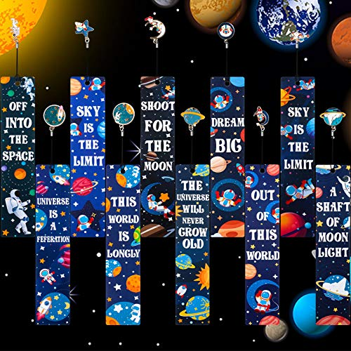 20 Pieces Space Theme Inspirational Quotes Bookmarks with Metal Charms School Classroom Prize Reading Party Favors Presents for Kids Boys Girls Adults Photo #7