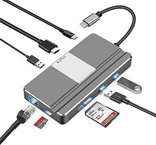 BHOMEA USB C ハブ 8in 1 DexモードType C ハブ Hub ドッキングステーション 100W PD急速充電,4K HDMI出力, 1000Mbps 有線LAN,USB 3.0ポート×2 ,USB 2.0ポート×1,TF/SDカードリーダー, OTG対応 高速データ転送USB-C 変換 アダプタIpad Pro 2018/MacBook Pro 2017/2016/ MacBook Air 2018/HP/Google Chromebook/Microsoft Surface Book 2など対応 ブラケット付き