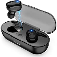 Amuoc Bluetooth Stereo Earphones With Portable Charging Case