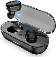 Wireless Earbuds, Bluetooth 5.0 Wireless Headphones, in-Ear Sweat-Proof Stereo Wireless Earphones with Portable Charging Case, Mic