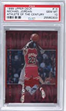 Michael Jordan PSA GRADED 10 (Basketball Card) 1999 Upper Deck Michael Jordan Athlete of the Century - [Base] #14