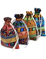 INTVN 24 st säckvävsväskor med dragsnöre presentväskor smyckespåse för bröllopsfest och gör-det-själv hantverk liten tygpresentpåse bröllop presentpåsar smycken väskor