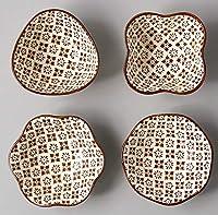 JJKEDW キッチン小さな料理は、セラミックしょうゆトレイ料理ミニ花型調味プレートをペイント食器 (Style : 7)
