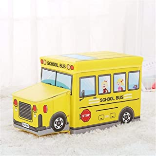 KANGJIABAOBAO Toy Storage Box Collapsible Toy Storage Organizer Toy Box Folding Storage For Kids Bedroom Perfect For Household Storage  Fabrics Childrens Toy Box  Color Yellow  Size Free size