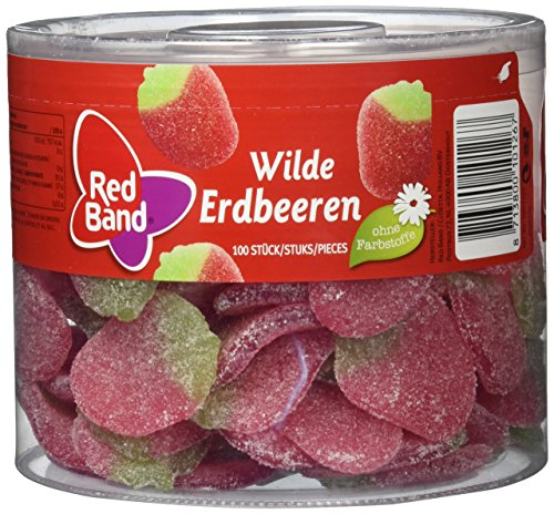 Red Band Wilde Erdbeeren 1,18 kg Dose | Fruchtgummi