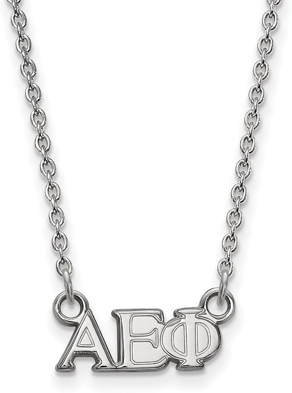 Sterling Silber logoart Alpha Epsilon Phi XS Impresa W Halskette