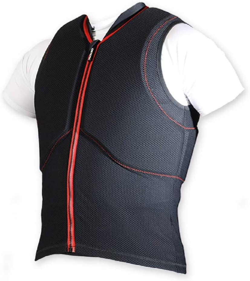 Ortho Max Vest Gr S Unisex Ärmellose Weste Mit Integriertem Ortho Max Rückenprotektor Und Brust Rippenschutz Auto