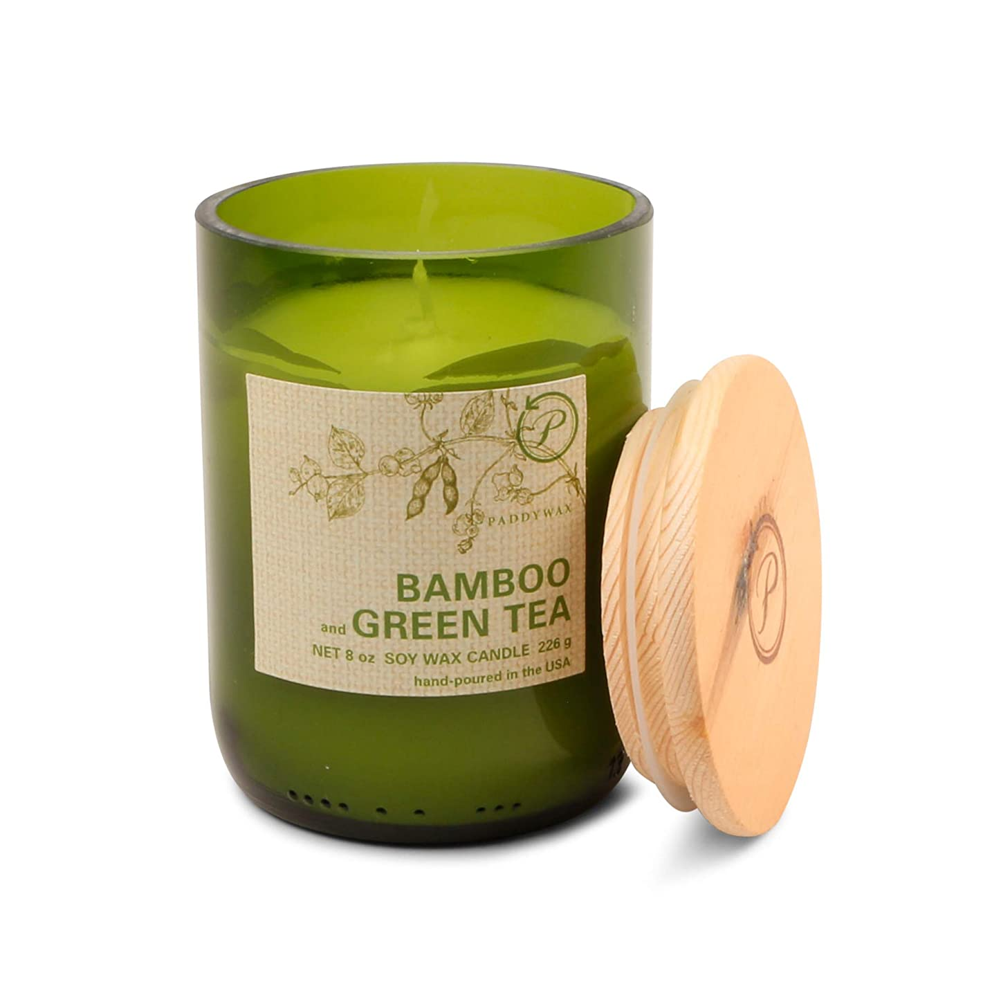 晩ごはん成人期合意パディワックス(PADDYWAX) エコ?グリーン キャンドル(ECO GREEN Candle) バンブー & グリーンティー(BAMBOO and GREEN TEA)
