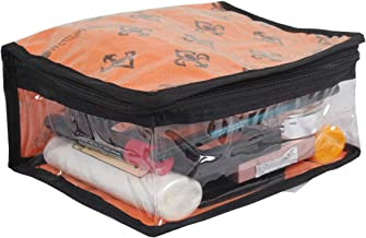 PrettyKrafts Cosmetic Kit | Toiletry Kit | Cosmetic Organiser | Make up Kit (Single) - Orange
