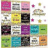 Set de Cartel de Mentalidad de Crecimiento Adorno de Exhibición de Tablón de Anuncios Póster de Consciencia Positiva Paquete de Póster Inspirador de Aula para Exhibición de Pared de Escuela