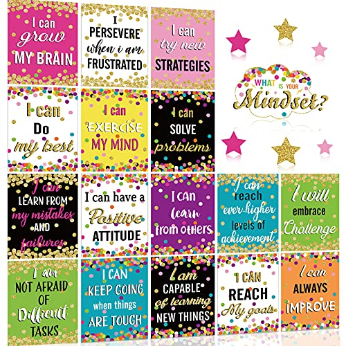Growth Mindset Posters Set Bulletin Board Display Decorations Positive...