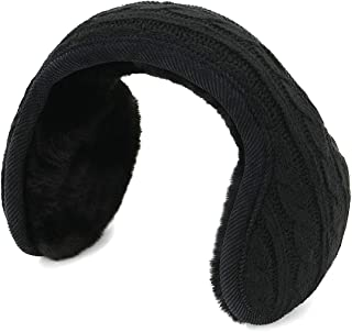 Earmuffs for Women Cozy Warm Winter Ear Muffs Cable knit Foldable Ear Muffs