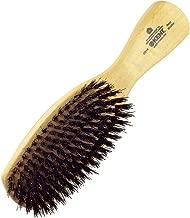 Kent OS18 Finest Men's Rectangular Club Satinwood Pure Black Bristle Gentleman's Hair Brush - Thick Hair (OS18)