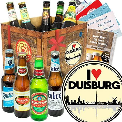 I love Duisburg/Duisburg Geburtstag Geschenk/Bier der Welt