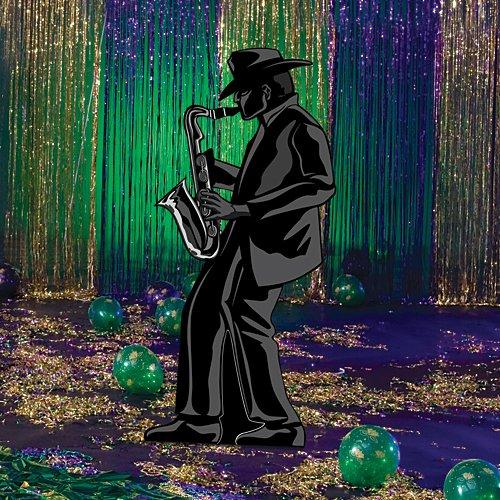 Jazz Sax Player Cutout