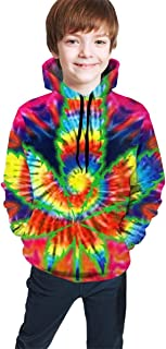 YongColer Hip-Hop Pullover Hooded Sweatshirts Sports Outwear for Boys Girls Teens Junior