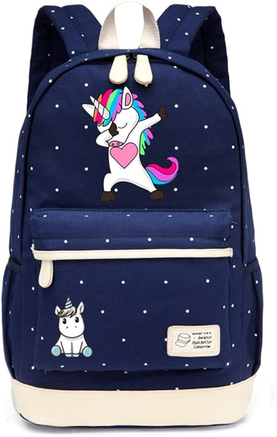 Cute Cartoon Unicorn Backpack Schoolbag Casual Teenagers Girl Women's School Travel Shoulder Bag 7