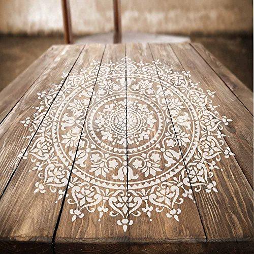 Prosperity Mandala Stencil for Walls – Wall Stencil Mandala – Reusable Stencil Better Than Mandala Decal – Laser Cut Mandala Template for Painting – Mandala Painting Stencil for Easy décor(36')