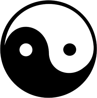 3 - Ying Yang Chinese Symbols White Helmet Sticker Decal Car Window Macbook Notebook Iphone Sticker Decal