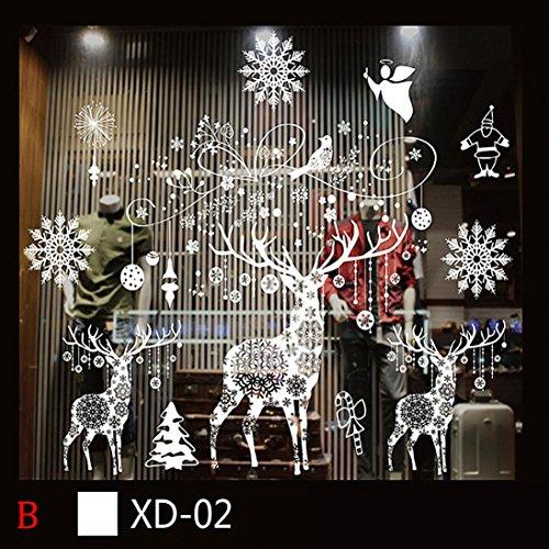 Stickers muraux fenêtres amovibles - flocons de neige et reines (n°1 meilleures ventes)
