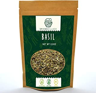 Spices Village Dried Basil, All Natural Fresh Basil Leaves, Kosher, Gluten Free, Non GMO, Sweet Dry Basil Herbs and Spices...