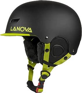 LANOVAGEAR Ski Helmet,Snowboard Helmet Snow Sports Helmet ASTM Certified for Kids Men Women