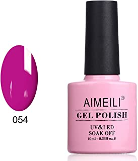 AIMEILI Soak Off UV LED Gel Nail Polish - Neon Purple Grape (054) 10ml