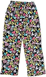 Image of Fleece All Over Print Emoji Pajama Pants for Girls - See More Print