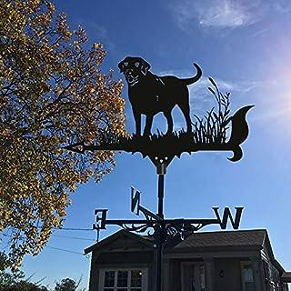 Animal Metal Weathervane,Vintage Style Metal Black Weather Vane,for Farm Scene, Garden Stake,House Garage, Cupola, Barn or...