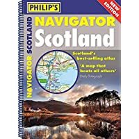 Philip's Navigator Scotland: (A4 Spiral binding) (Philip's Road Atlases)